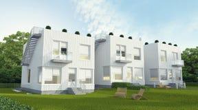 Τρία σπίτια Στοκ Φωτογραφία