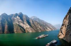 Τρία φαράγγια του φαραγγιού κοιλάδων ποταμών Yangtze Στοκ φωτογραφίες με δικαίωμα ελεύθερης χρήσης