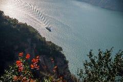 Τρία φαράγγια του φαραγγιού κοιλάδων ποταμών Yangtze Στοκ Εικόνες