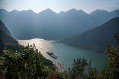 Τρία φαράγγια του φαραγγιού κοιλάδων ποταμών Yangtze Στοκ Φωτογραφίες