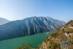 Τρία φαράγγια του φαραγγιού κοιλάδων ποταμών Yangtze Στοκ εικόνες με δικαίωμα ελεύθερης χρήσης