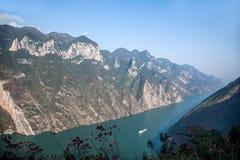 Τρία φαράγγια του φαραγγιού κοιλάδων ποταμών Yangtze Στοκ εικόνα με δικαίωμα ελεύθερης χρήσης