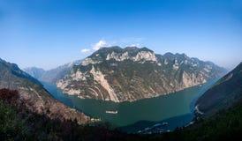 Τρία φαράγγια του φαραγγιού κοιλάδων ποταμών Yangtze Στοκ Φωτογραφία