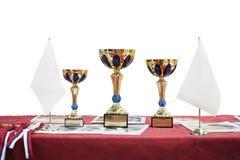 Τρία φλυτζάνια βραβείων στοκ φωτογραφίες με δικαίωμα ελεύθερης χρήσης