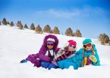 Τρία χαριτωμένα κορίτσια στοκ φωτογραφία με δικαίωμα ελεύθερης χρήσης