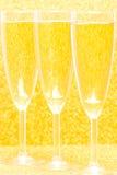 Τρία CHAMPAGNE για τον εορτασμό Στοκ Εικόνα