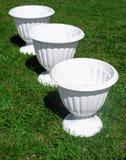 Τρία flowerpots Στοκ εικόνες με δικαίωμα ελεύθερης χρήσης