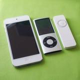 Τρία iPods Στοκ εικόνα με δικαίωμα ελεύθερης χρήσης