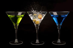 Τρία Martinis στοκ εικόνα