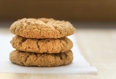 Τρία oatmeal μπισκότα Anzac Στοκ φωτογραφίες με δικαίωμα ελεύθερης χρήσης