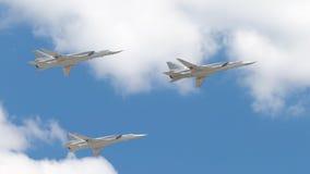 Τρία TU-160 στην παρέλαση νίκης Στοκ εικόνες με δικαίωμα ελεύθερης χρήσης