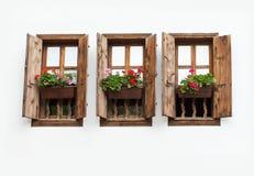 τρία Windows Στοκ φωτογραφίες με δικαίωμα ελεύθερης χρήσης