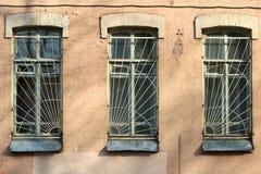 τρία Windows στοκ φωτογραφίες