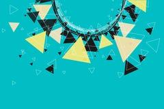 Τρίγωνα, αστέρια και υπόβαθρο σχεδίων κύκλων Στοκ Εικόνα