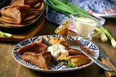 Τρίγωνα των γεμισμένων τηγανιτών Στοκ Εικόνες