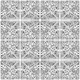 Τρίγωνα zentangle Στοκ Εικόνες