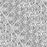 Τρίγωνα zentangle 2 Στοκ εικόνα με δικαίωμα ελεύθερης χρήσης