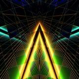 Τρίγωνο-λέιζερ Στοκ Εικόνα