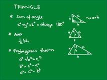 Τρίγωνο γεωμετρικό Στοκ φωτογραφίες με δικαίωμα ελεύθερης χρήσης