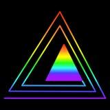 Τρίγωνο ουράνιων τόξων σε ένα άλλο τρίγωνο, που αποτελείται από το colo ουράνιων τόξων Διανυσματική απεικόνιση