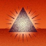 Τρίγωνο ράστερ Dotwork με τις ακτίνες απεικόνιση αποθεμάτων