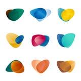 Τρίγωνο σχεδίου, φύλλα, συκώτι, καρδιά αγάπης, circul Στοκ φωτογραφίες με δικαίωμα ελεύθερης χρήσης