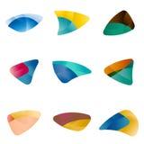 Τρίγωνο σχεδίου, φύλλα, συκώτι, μάτια, κυκλικό arr Στοκ φωτογραφία με δικαίωμα ελεύθερης χρήσης
