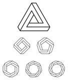 Τρίγωνο Penrose και περίληψη πολυγώνων ελεύθερη απεικόνιση δικαιώματος