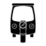 Τρίκυκλο μεταφορών δίτροχων χειραμαξών μηχανών σκιαγραφιών απεικόνιση αποθεμάτων