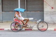 Τρίκυκλο ταξί ποδηλάτων Στοκ Φωτογραφία