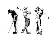 τρίο γκολφ διανυσματική απεικόνιση