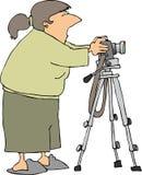 τρίποδο φωτογραφικών μηχανών απεικόνιση αποθεμάτων