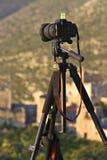 τρίποδο φωτογραφικών μηχ&alpha Στοκ Φωτογραφία