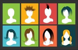 Τρίχα ανθρώπων αποτυχιών ειδώλων στο τετράγωνο πολύχρωμο Στοκ Εικόνες