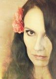 τρίχωμα κοριτσιών λουλουδιών Στοκ φωτογραφία με δικαίωμα ελεύθερης χρήσης