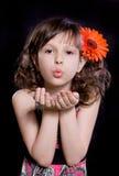 τρίχωμα κοριτσιών λουλο& στοκ φωτογραφία