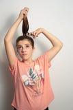 τρίχωμα κοριτσιών μακρύ Στοκ φωτογραφία με δικαίωμα ελεύθερης χρήσης