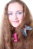 τρίχωμα κοριτσιών πεταλού& Στοκ εικόνες με δικαίωμα ελεύθερης χρήσης