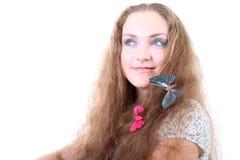 τρίχωμα κοριτσιών πεταλού& Στοκ φωτογραφία με δικαίωμα ελεύθερης χρήσης