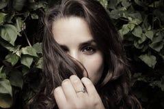 τρίχωμα προσώπου η γυναίκ&alph Στοκ εικόνα με δικαίωμα ελεύθερης χρήσης