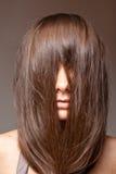 τρίχωμα προσώπου brunette Στοκ εικόνες με δικαίωμα ελεύθερης χρήσης