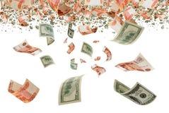 Τρίψιμο ρουβλιών σειράς μαθημάτων/Δολ ΗΠΑ. Στοκ φωτογραφία με δικαίωμα ελεύθερης χρήσης