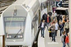 τραίνο άφιξης Στοκ Εικόνες