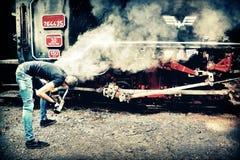 Τραίνο ατμού στη Ρουμανία στοκ φωτογραφίες με δικαίωμα ελεύθερης χρήσης