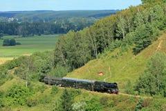τραίνο ατμού τοπίων Στοκ εικόνες με δικαίωμα ελεύθερης χρήσης