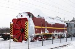Τραίνο αφαίρεσης χιονιού στοκ εικόνα