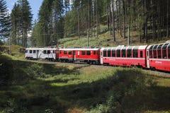 Τραίνο βουνών Bernina Στοκ Φωτογραφία