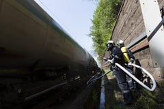 Τραίνο βυτιοφόρων πυροσβυστικό Στοκ εικόνα με δικαίωμα ελεύθερης χρήσης