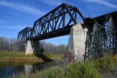 τραίνο γεφυρών Στοκ Εικόνες