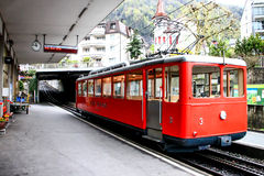 Τραίνο για να τοποθετήσει Rigi, Luzern, Ελβετία Στοκ εικόνα με δικαίωμα ελεύθερης χρήσης